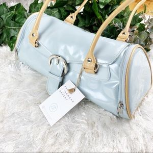 Patent Baby Blue Cylinder Half Circle Shaped Bag